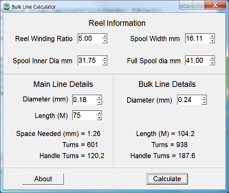 Small screen shot of Bulk Line Calculator.